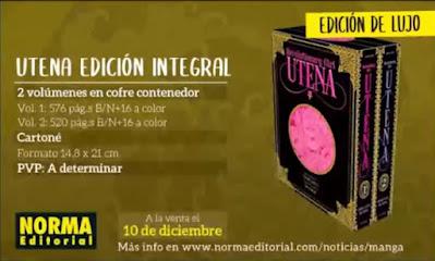 La nueva edición de UTENA llegará este 10 de diciembre.