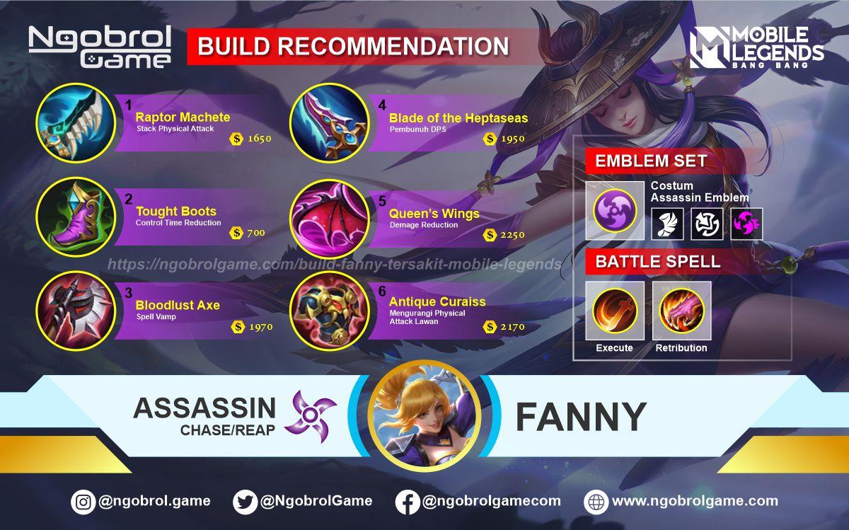 Build Fanny Savage Mobile Legends