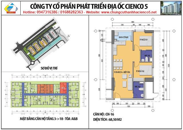Sơ đồ thiết kế căn 16 chung cư B2.1 HH02A&B Thanh Hà Cienco 5