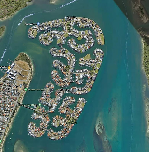 SOVEREIGN ISLANDS, the ultra-rich community at Paradise Point, Queensland