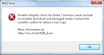 Mengatasi NSIS Error pada Windows