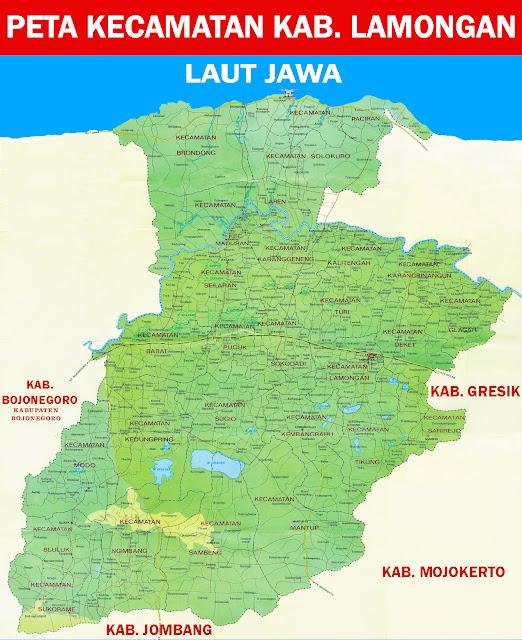 Gambar Peta Kecamatan Kabupaten Lamongan