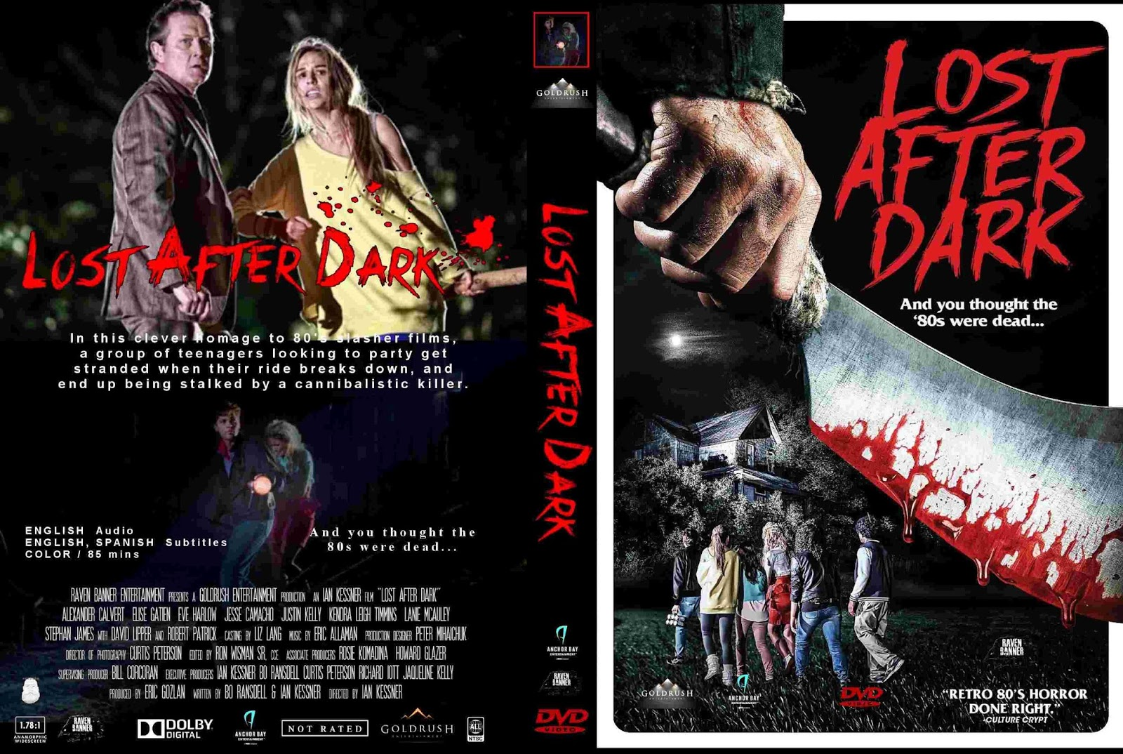 Base : Lost After Dark (2015) - Cover & Label DVD Movie
