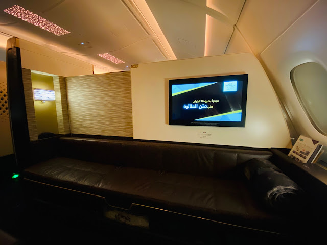 Review: Etihad EY454 First Class Apartment A380 Abu Dhabi (AUH) to Sydney (SYD)