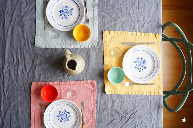 jolie table table styling vaisselle ancienne vaisselle chinée