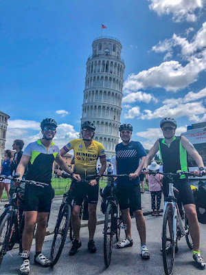 cycling italy holiday fly flights to pise ryanair easyjet corona virus covid-19 policy carbon road bike rental in tuscany