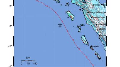 Gempa Berkekuatan 7,2 SR Guncang Nias Barat