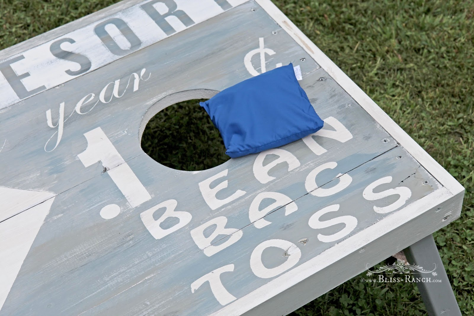 Bean Bag Toss Yard Game Bliss-Ranch.com #maisonblanchepaint  #paintedfurniture #ad
