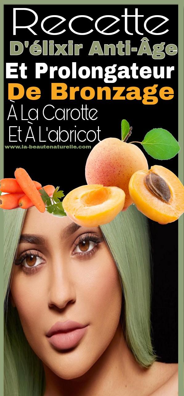 Recette d'élixir anti-âge et prolongateur de bronzage à la carotte et à l'abricot