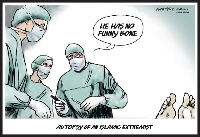 Funny Islamic Extremist Funny Bone Cartoon Picture