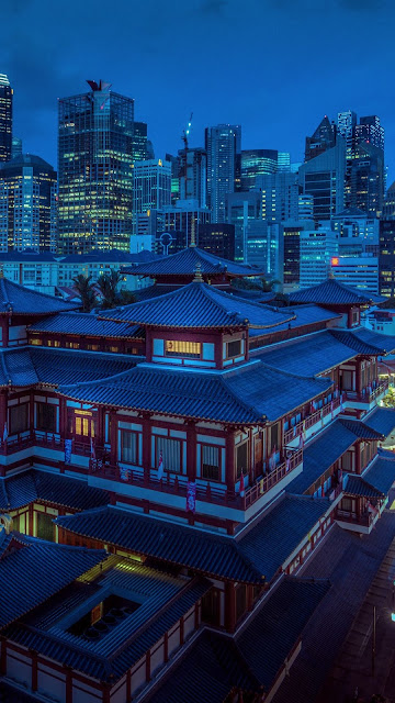 Pagoda, City, Architecture, Temple, Buildings