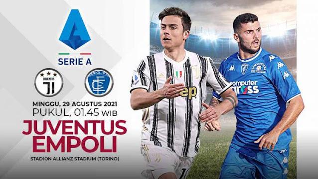 Link Live Streaming Juventus vs Empoli Serie A Italia