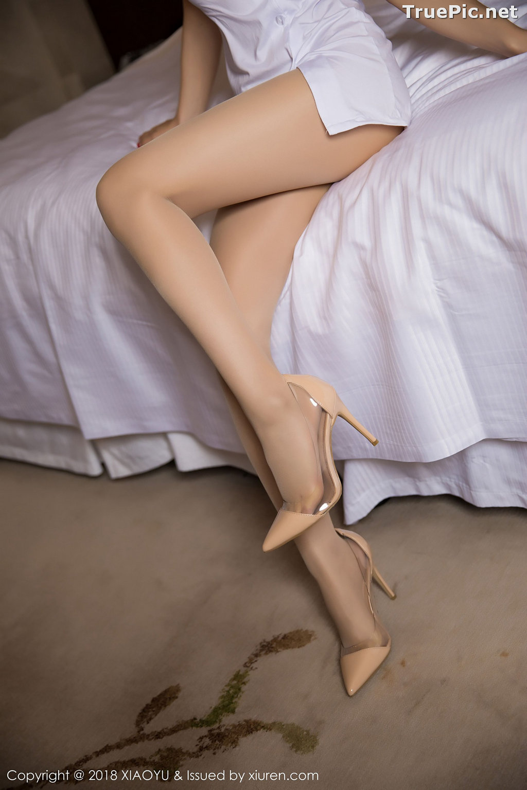 Image XiaoYu No.004 - Chinese Model - Xiao Reba (Angela喜欢猫) - White Sexy Nurse - TruePic.net - Picture-10