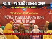 Materi Workshop Perlombaan  Inobel Guru Dikdas Nasional 2019