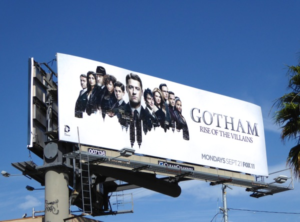 Gotham Rise of the Villains season 2 billboard