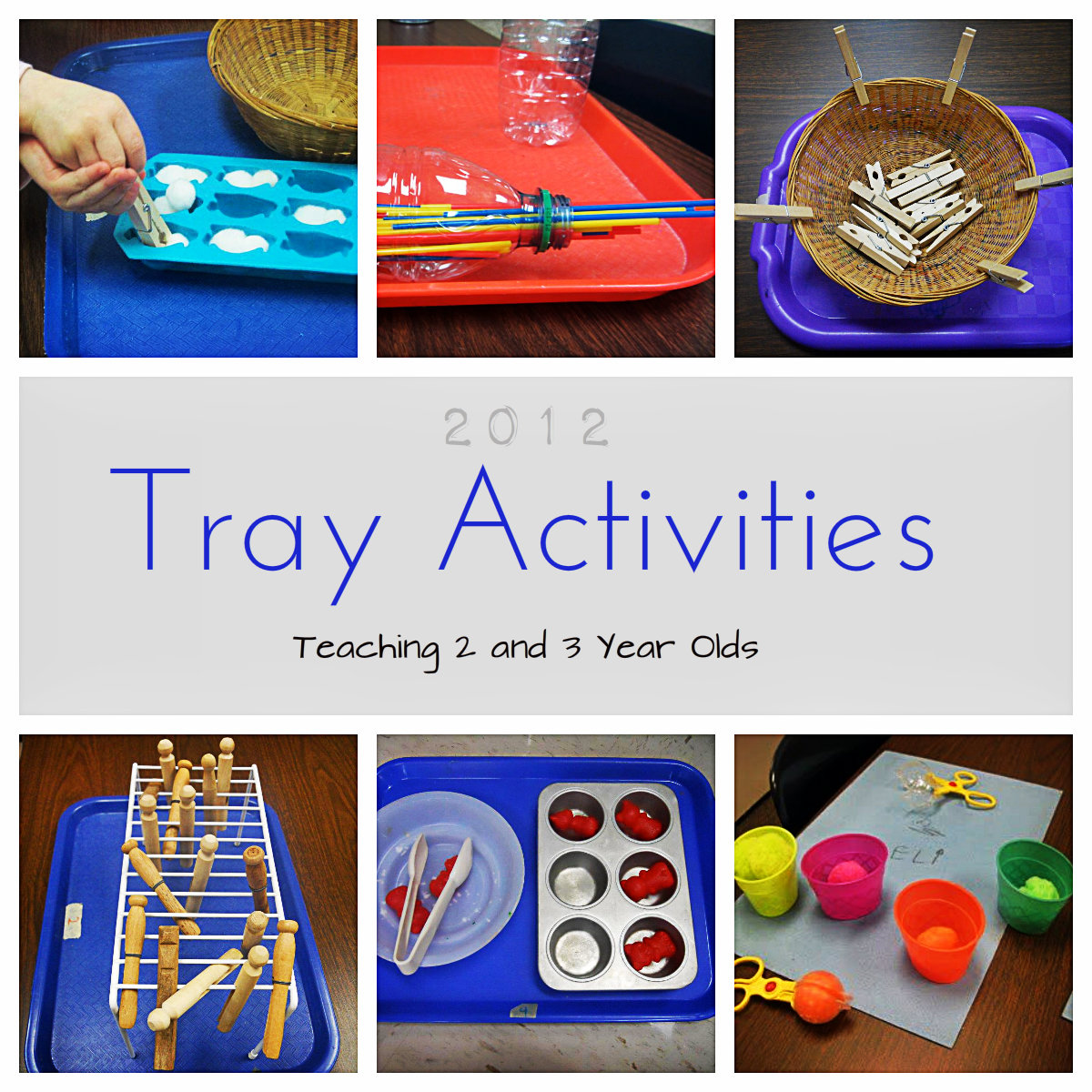 Teaching 2 And 3 Year Olds A Collection Of Tray Activities