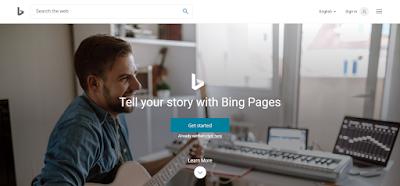 Bing Pages  का प्रयोग कर अपना प्रमोशन करे