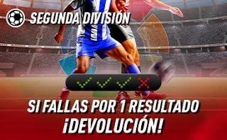 sportium Segunda División: Combinada con seguro 6-8 septiembre