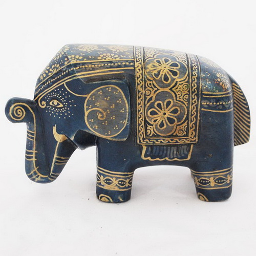 Tinuku Wooden elephant sculptures appeared in batik art decoupage by Sanggar Peni reviews mystical culture