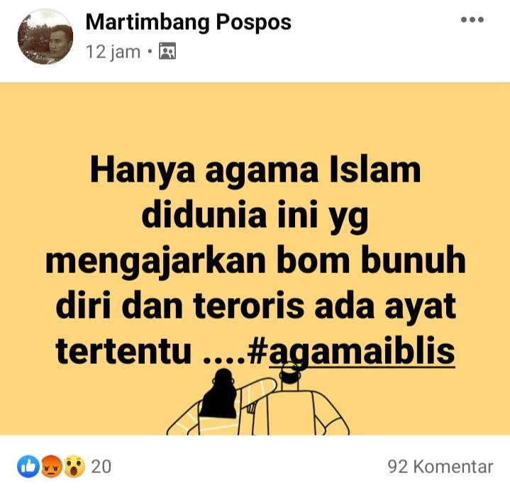 Grup facebook provokator