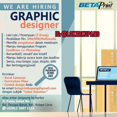 Lowongan Kerja Beta Print Sebagai Graphic Designer
