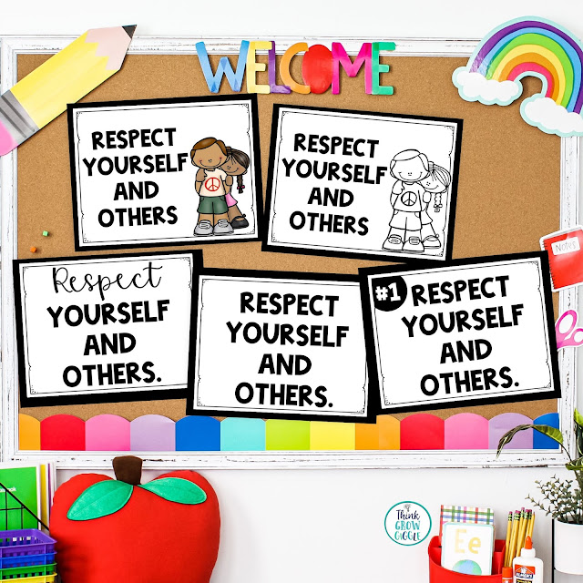 back to school rules posters for upper elementary