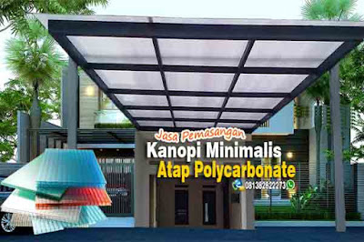 Canopy rumah minimalis atap polycarbonate