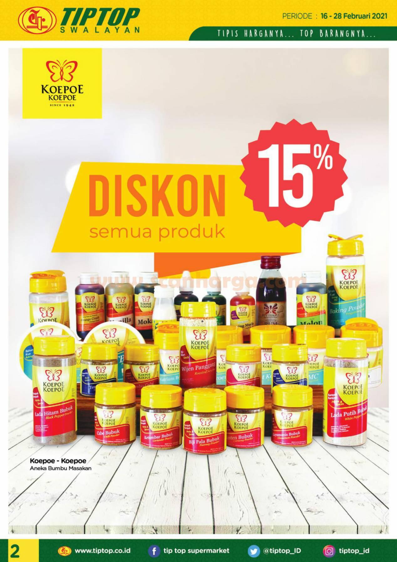 Katalog Promo Tip Top Pasar Swalayan 16 - 28 Februari 2021 2