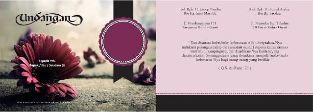 Bagi Bagi File ! 577 MB Undangan CDR : Undangan Pernikahan CorelDraw X7