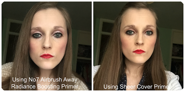 Before and After No7 Airbrush Away Radiance Boosting Primer