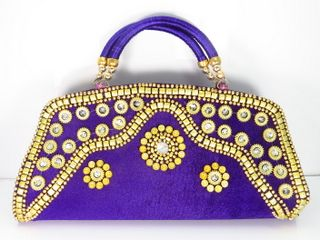 Indian Handicrafted Embroidered Whole Purses Handbags Bags Designer Jeweled Ethnic