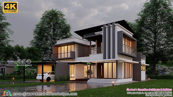 Contemporary style 376 square yard home design