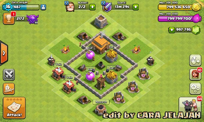 Desain Base Hybrid Clash Of Clans Town Hall 3 Update Terbaru 7