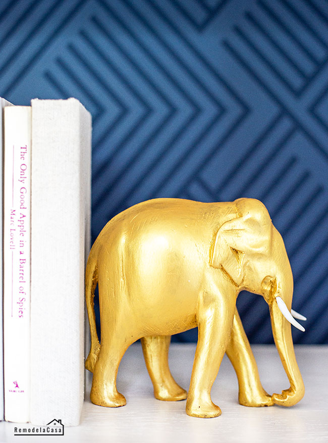gold painted elephant
