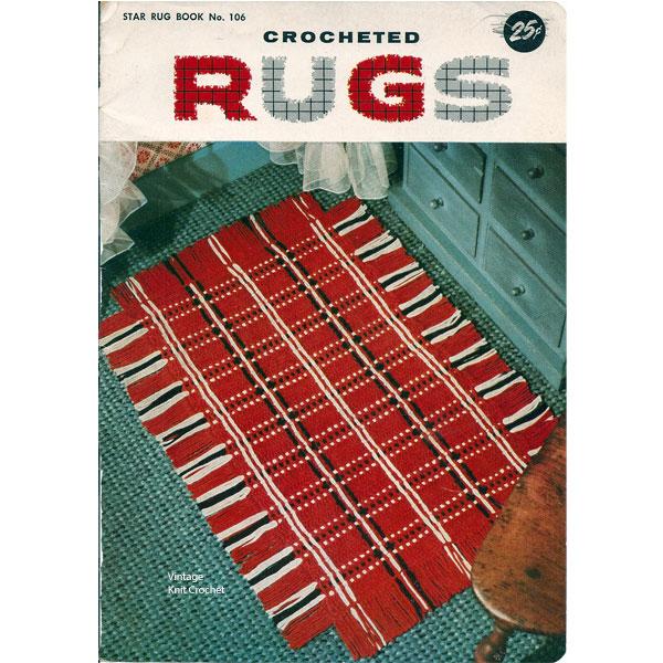 Vintage Knit Crochet Shop Talk Crocheted Rug Patterns Star Book 106