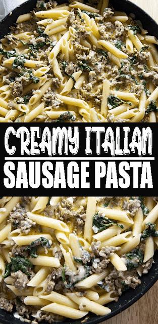 Creamy Italian Sausage #Pasta