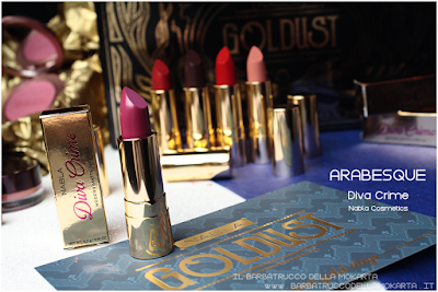 ARABESQUE RECENSIONE diva crime goldust collection Nabla cosmetics