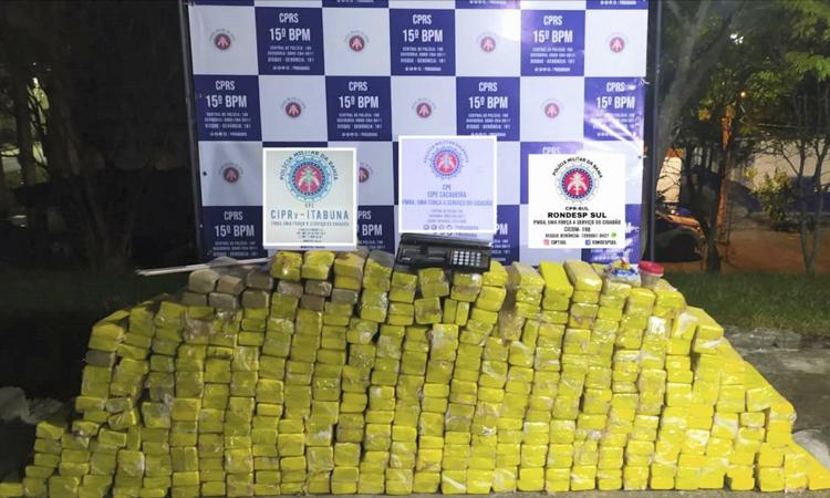 Polícia Militar apreende 420 kg de maconha em Itabuna