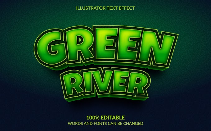 Green River Text Effect Ai