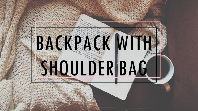 Backpack with Shoulder Bag Clutch Purse