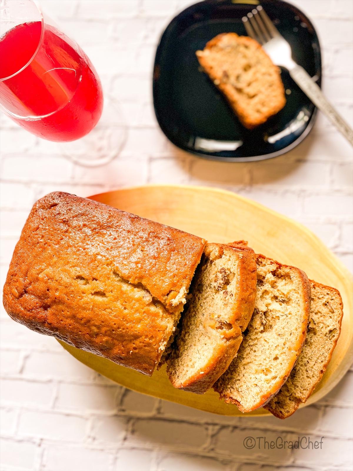 ORANGE BANANA-NUT CAKE