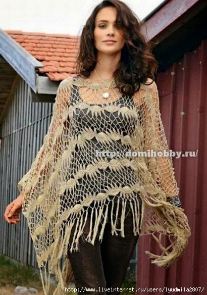 Crochet Lace Patterns Step By Step : ergahandmade: Crochet Lace Poncho + Pattern Step by Step ...