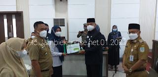 Walikota Jambi Saksikan Penandatanganan Perjanjian Kinerja Kepala OPD di Lingkup Pemerintah Kota Jambi.