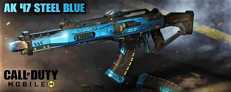 Fusil AK 47 Steel Blue