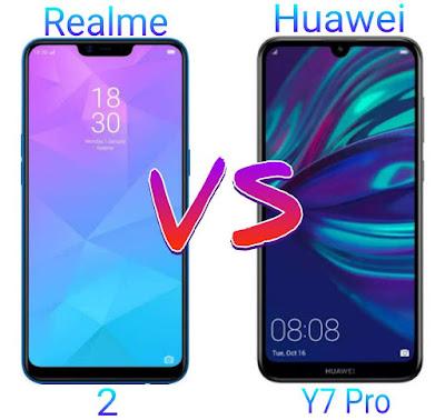 Smartphone Realme 2 VS Huawei Y7 Pro