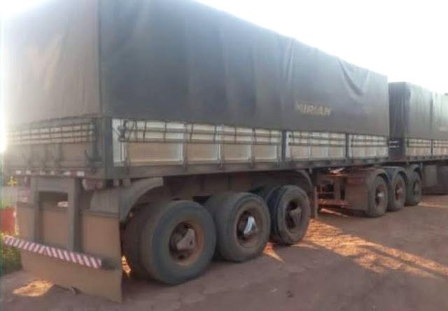 Após veículo apresentar defeito em rodovia, vilhenense tem carreta furtada com 50 toneladas de soja dentro