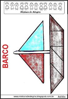 tangram desenho de barco