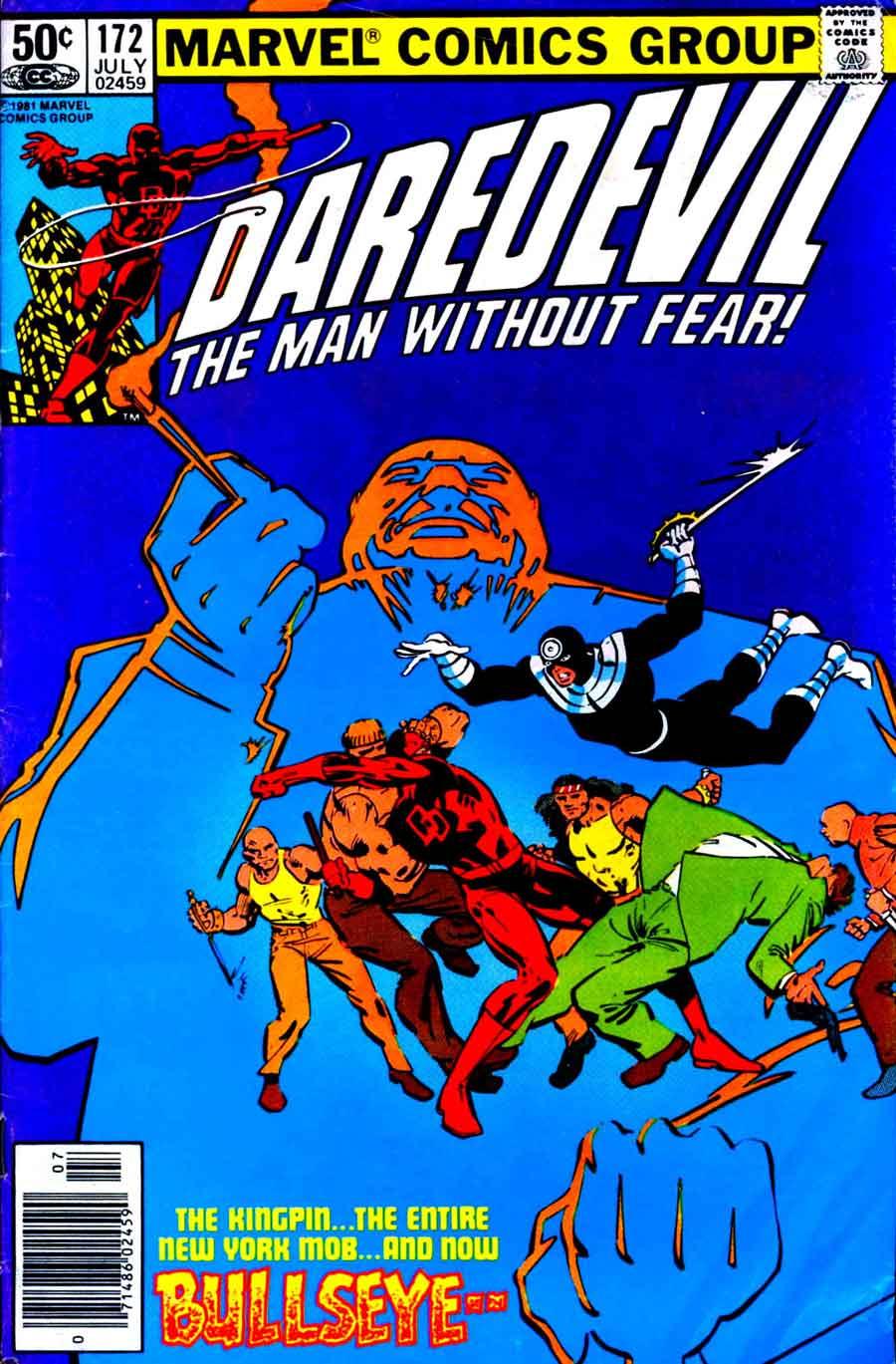 Daredevil v1 #172 kingpin marvel comic book cover art by Frank Miller