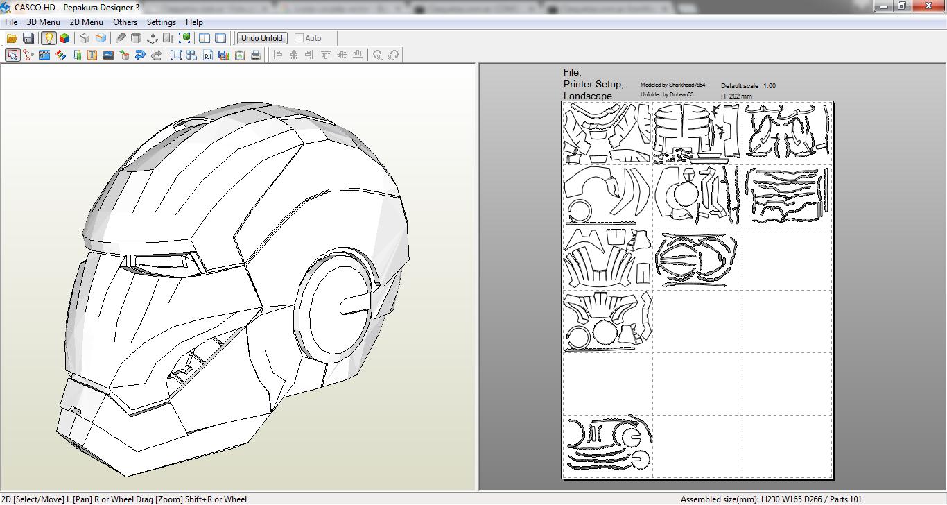 iron man mask papercraft pdf