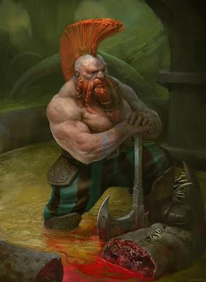 Icehammer Dwarves slay the Mountain's Toe Goldmine monster